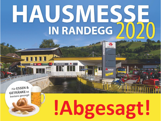 Hausmesse in Randegg abgesagt!!